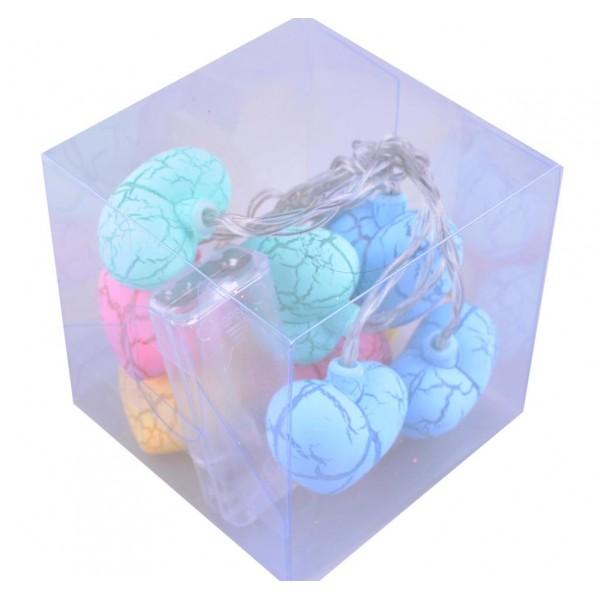 10lu Renkli Kalp Şeklinde Dolama Led 1,5 Metre