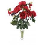 11 Dallı 50 cm Gül Demeti Yapay Çiçek Kırmızı-CK004KZ