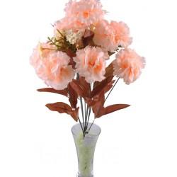 11 Dallı 50 cm Karanfil Yapay Çiçek Somon-CK002SN