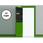 12 Cepli Kapı Arkası Çok Amaçlı Organizer - Siyah