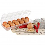 12'li Şeffaf Kapaklı Kilitli Yumurta Saklama Kabı Kutusu Aparatı