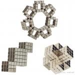 216 Parça Süper Güçlü Neodyum Mıknatıslı 3 Boyutlu Puzzle Oyuncak