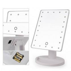 22 Ledli 360 Derece Dönebilen Led Işıklı Masaüstü Makyaj Aynası