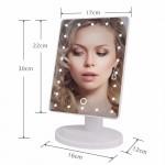 22 Ledli 360 Derece Dönebilen Makyaj Aynası