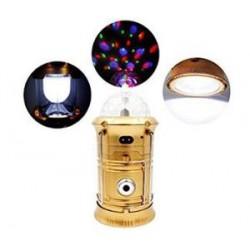 3 Fonksiyonlu Disko Işıklı Kamp Lambası Solar
