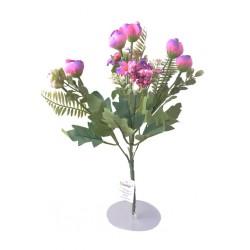 5 Dallı 28 cm Aranjmanlı Gül ve Papatya Yapay Çiçek