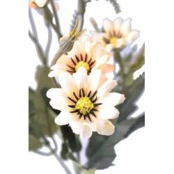 5 Dallı 33 cm Papatya Demeti Sarı Beyaz-CK013SB