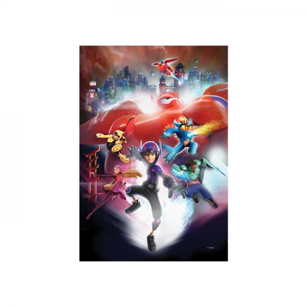 6 Süper Kahraman 50x70 cm Kanvas Tablo