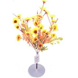 7 Dallı 33 cm Papatya Yapay Çiçek Sarı-CK009SA