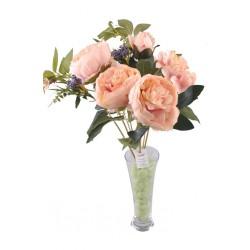 9 Dallı 40 cm Gül Yapay Çiçek Yavruağzı-CK003YA