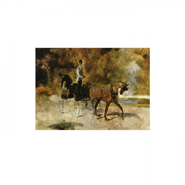 A Dog Cart 50x70 cm