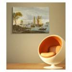 Abraham Storck - A River View 50x70 cm