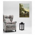 Abraham Van Calraet - A Boy holding a Grey Horse 50x70 cm