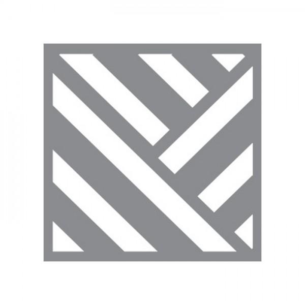 Açılı Çizgiler Stencil Tasarımı 30 x 30 cm