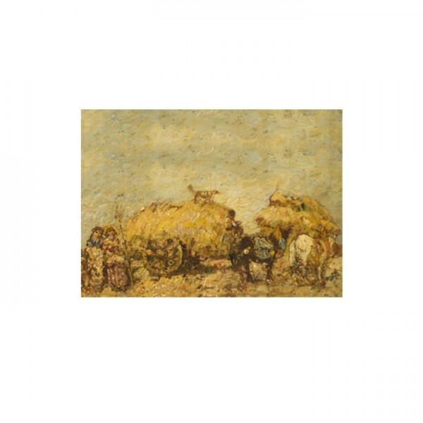 Adolphe Monticelli - The Hayfield 50x70 cm