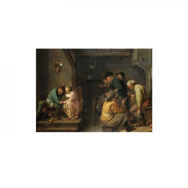 Adriaen Brouwer - Tavern Scene 50x70 cm