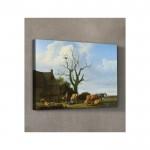 Adriaen Van De Velde - A Farm with a Dead Tree 50x70 cm