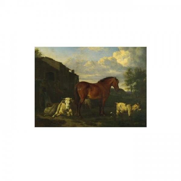 Adriaen Van De Velde - Animals near a Building 50x70 cm