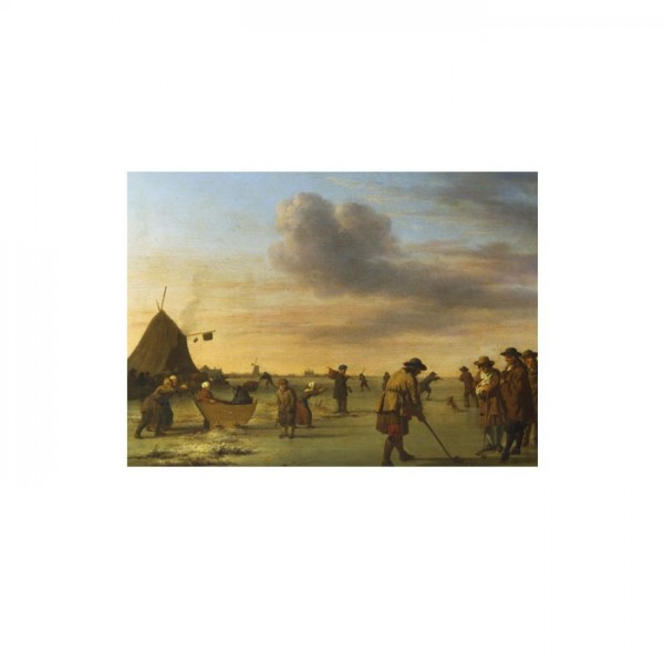 Adriaen Van De Velde - Golfers on the Ice near Haarlem 50x70 cm