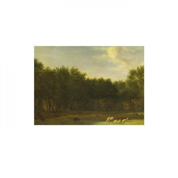 Adriaen Van De Velde - The Edge of a Wood 50x70 cm
