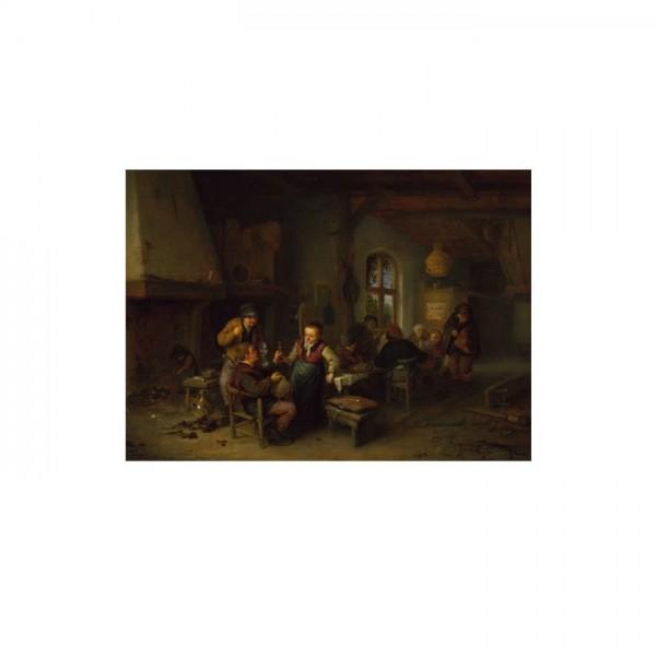 Adriaen Van Ostade - The Interior of an Inn 50x70 cm