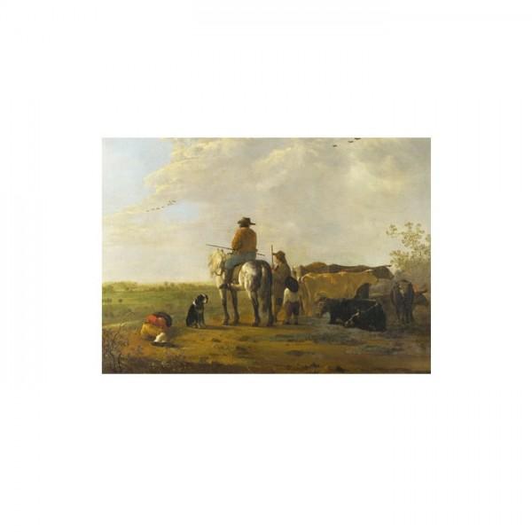 Aelbert Cuyp - A Landscape with Horseman 50x70 cm