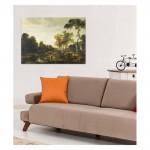 Aert van der Neer - An Evening Landscape with a Horse and Cart by a Stream 50x70 cm
