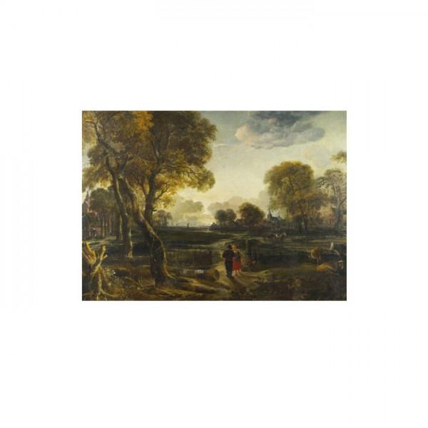 Aert Van Der Neer - An Evening View near a Village 50x70 cm