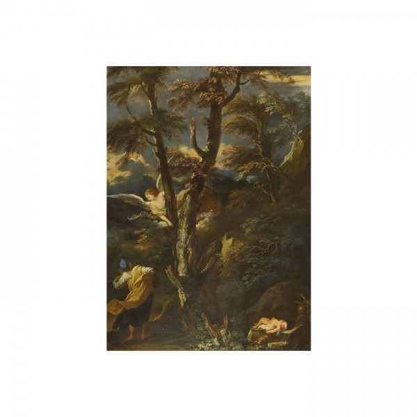 After Salvator Rosa-An Angel appears to Hagar and Ishmael in the Desert 50x70