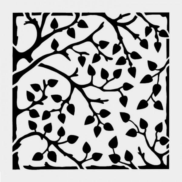Ağaç Deseni Stencil Tasarımı 30 x 30 cm
