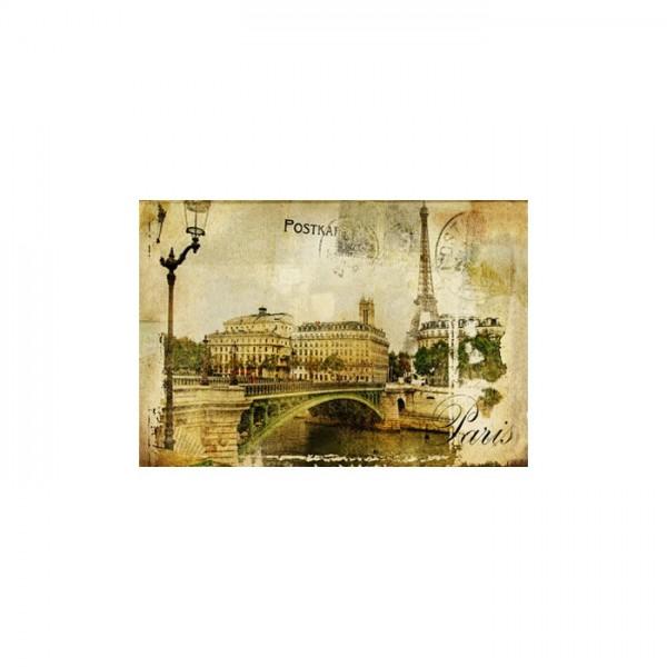 Aged Paris Kanvas Tablo