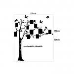 Aile Ağacı 1 Kadife Duvar Sticker 148X170 Cm