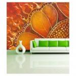Alevli Çiçek 178x126 cm Duvar Resmi