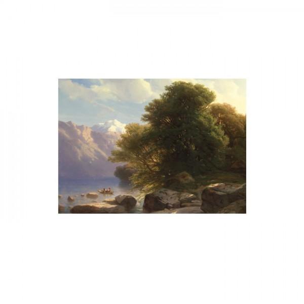 Alexandre Calame - The Lake of Thun 50x70 cm