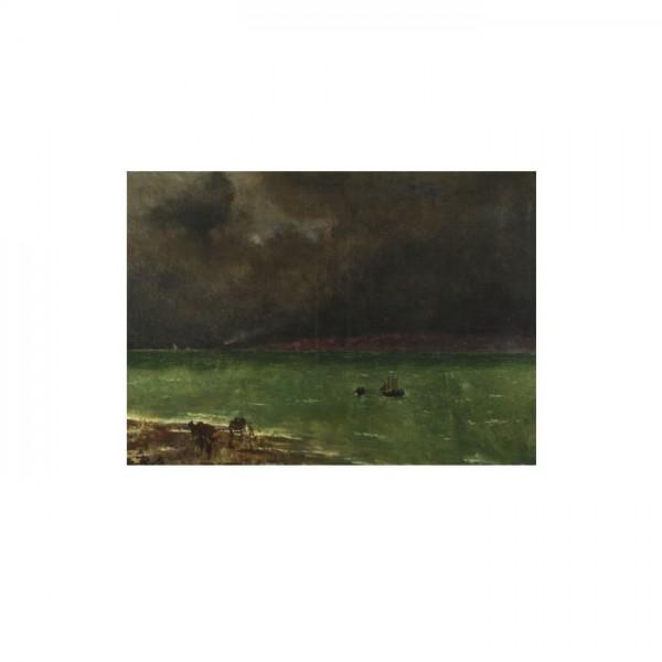 Alfred Stevens - Storm at Honfleur 50x70 cm
