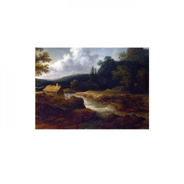 Allaert Van Everdingen - A Sawmill by a Torrent 50x70 cm