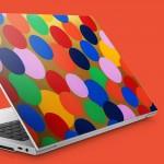 Altın Üzerine Renkli Daireler Notebook Sticker