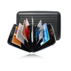 Alüminyum 7 bölmel Kredi Kartlı Taşıma Cüzdanı Aparatı Kartlık
