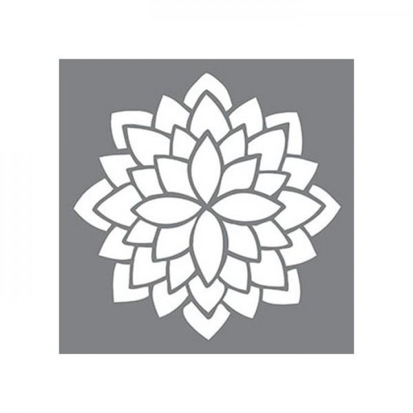 Amazon Çiçeği Stencil Tasarımı 30 x 30 cm