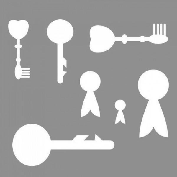 Anahtarlar-3 Stencil Tasarımı 30 x 30 cm