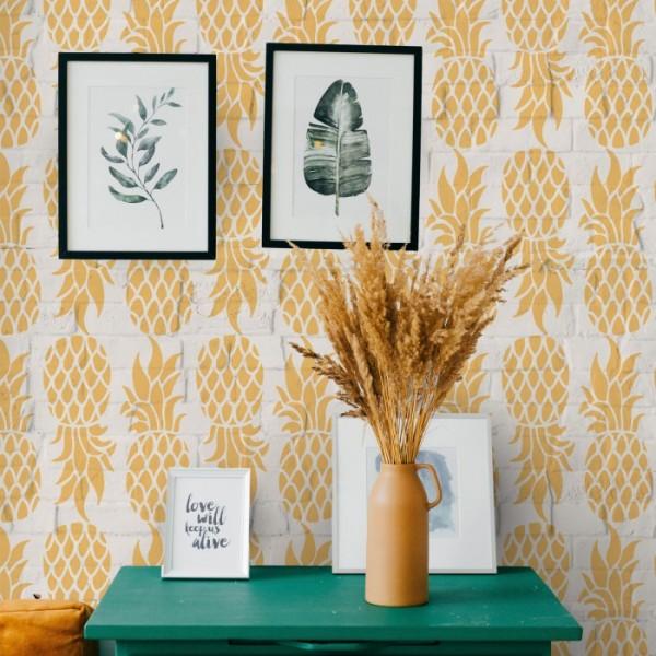 Ananas Stencil Tasarımı 30 x 30 cm