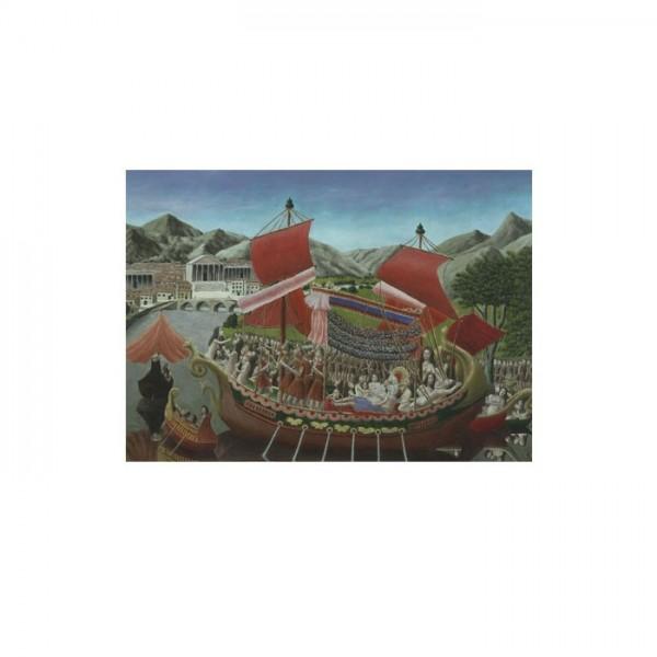 André Bauchant - Cleopatra's Barge 50x70 cm