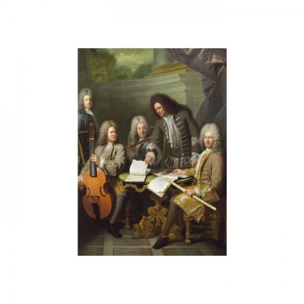 André Bouys - La Barre and Other Musicians 50x70 cm