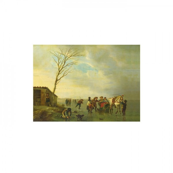 Andries Vermeulen - A Scene on the Ice 50x70 cm