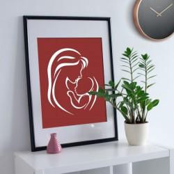 Anne Çocuk Stencil Tasarımı 30 x 30 cm