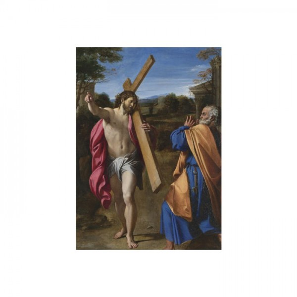 Annibale Carracci - Christ appearing to Saint Peter on the Appian Way 50x70 cm