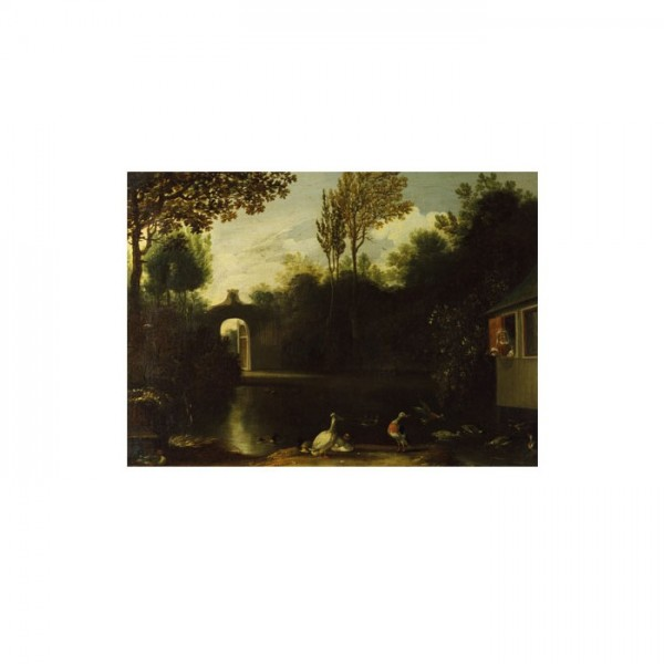 Anthonie Van Borssum - A Garden Scene with Waterfowl 50x70 cm