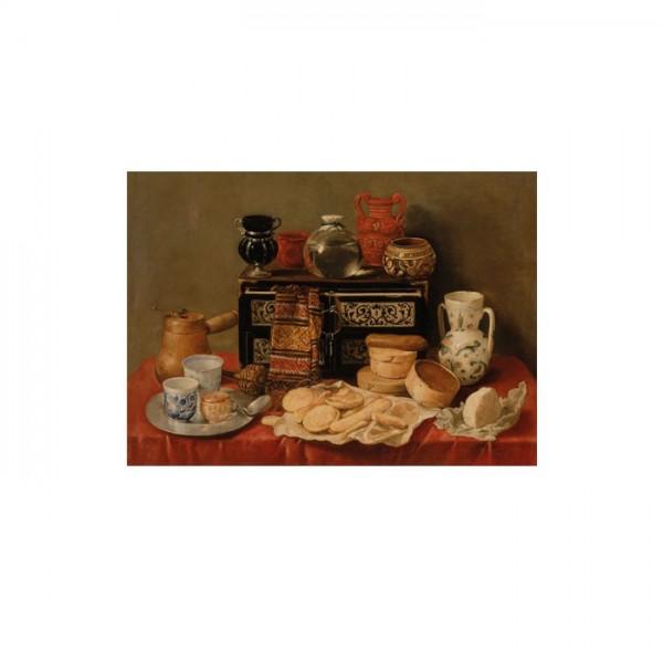 Antonio de Pereda - Still Life with an Ebony Chest 50x70 cm