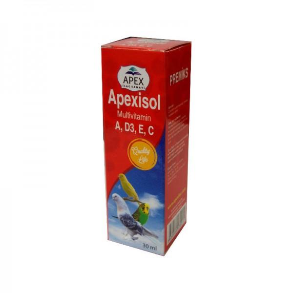 Apex İsol Kuşlar İçin A,D,E,C Multivitamin 30 ml