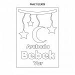 Arabada Bebek Var-2 Araç Sticker 21x29 cm